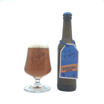 Ahoi Bier bouteille et verre Hafenkran Lager