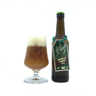 Ahoi Bier bouteille et verre Bandits Finest IPA